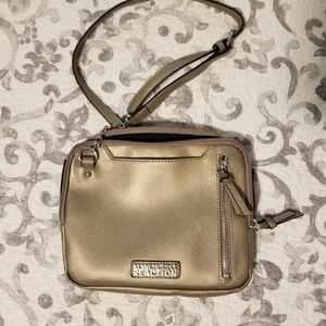 Kenneth Cole Reaction champagne gold crossbody bag
